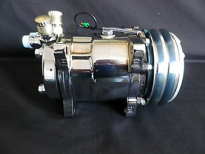Air Conditioning Compressors Sanden 508 Style Chrome Plated V Belt
