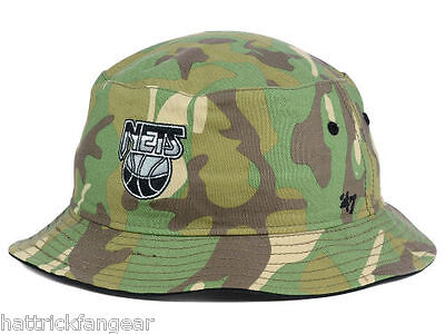Brooklyn Nets  47 Brand NBA Basketball Woodrow Logo Bucket Style Cap Hat L  XL f7d036fb1a04