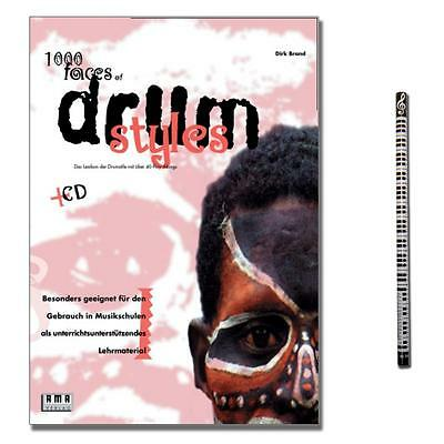 1000 Faces of Drum Styles - mit CD und MusikBleistift - 4018262101904