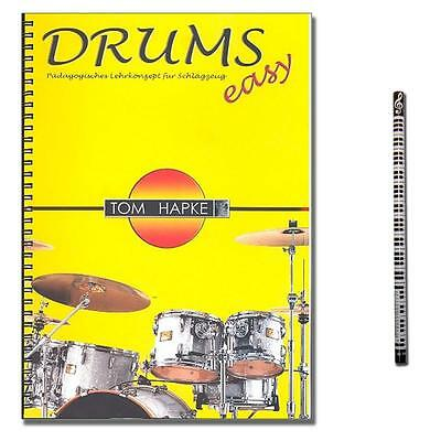 Drums easy 1 - Tom Hapke - MusikBleistift - BOE7017 - 9783936026399