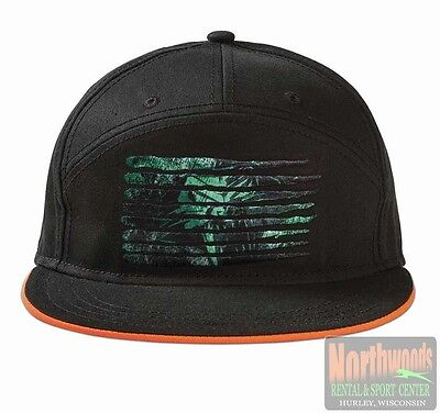 Arctic Cat Cathead Logo 7-Panel Flat Brim Adjustable Hat Cap - Black 5253-184