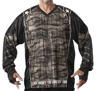 Lucky 15 Paintball Jersey - New 2015 - Wamo Camo - Size Large