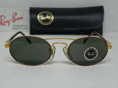 New Vintage B&L Ray Ban Chaos Oval Gold Tortoise W2008 Aviator  USA NOS