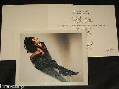 PAULA ABDUL 'RUSH RUSH' 1991 PROMOTIONAL LETTER w/PHOTO