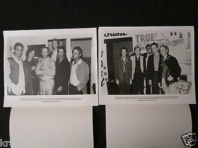 THE DOORS 'DANCE ON FIRE' TWO 1985 PRESS RELEASES w/TWO PHOTOS