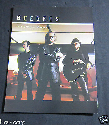 Bee Gees 'This Is Where I Came In' 2001 Bio Booklet