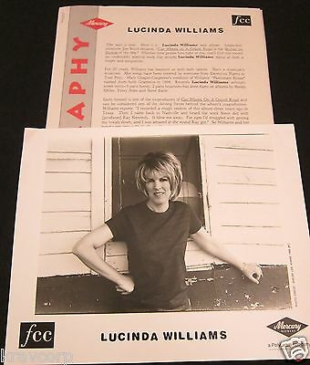 Lucinda Williams 'Car Wheels On A Gravel Road' 1998 Press Kit--Photo