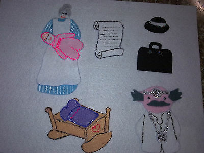 Felt Board Flannel Story Rhyme Teacher Resource - Miss Polly Had A Dolly