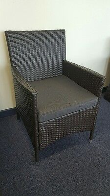 WICKER OUTDOOR aluminium frame DINING FURNITURE POOL LOUNGE DINING CHAIR