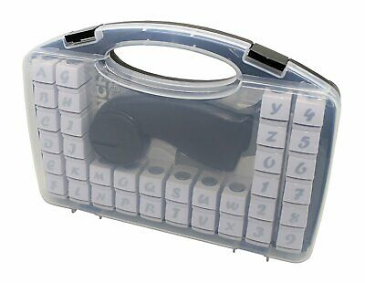 Cassette Craft Punch Alphabet+Number Set 36 Piece With Handle For Paper Crafting