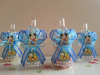 12 Baby Mickey Mouse Baby Pluto Fillable Bottles Baby Shower Boy