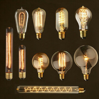 E27 40W 60W Vintage Retro Filament Edison Tungsten Light Bulb Antique Style Lamp