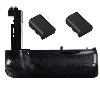 Vertical Battery Grip Pack Holder with 2 x LP-E6 For DSLR Canon EOS 7D Mark II