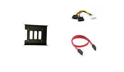 2.5'' SSD Mounting Bracket with SATA2 Date Cable and 4pin SATA Power Cable Kit