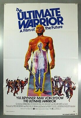 The Ultimate Warrior -Yul Brynner / Joanna Miles- Original Usa 1Sht Movie Poster