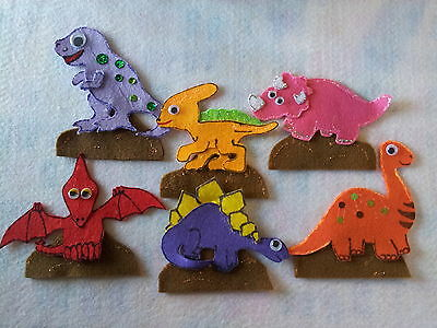 Felt Boards Story /song Ryhme Teacher  Resource  - 6 Dinosaurs Sitting On A Rock