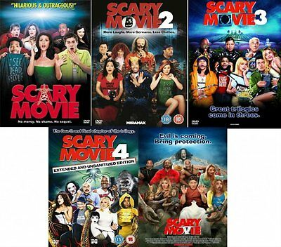 SCARY MOVIE Complete Horror DVD Collection All 1 + 2 + 3 + 4 + 5 Film UK Sealed