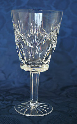 "Waterford Crystal Ashling Pattern Large Wine Glass or Water Goblet 6 7/8""   #400"