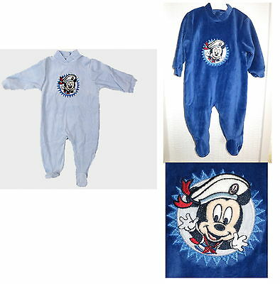 Disney Mickey Mouse Baby Boy Velour Sailor Romper Playsuit sleepsuit NB 0-9M