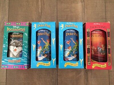 NEW IN BOX set of 4 Disney Burger King 1994 Collectors Cups