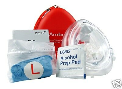 Adult, Child Size CPR Pocket Rescue Mask - CPR Face Mask 000 252 102 CPRS-401R