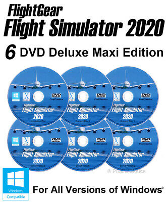 Flight Simulator 2017 DELUXE Edition X Aircraft Plane Helicopter Sim PC Windows