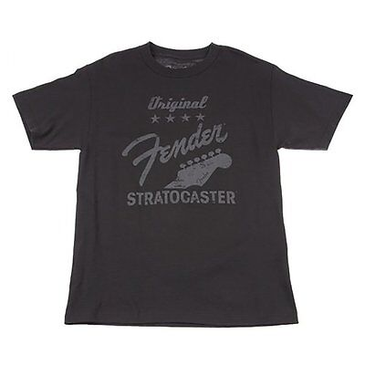 Fender Original Stratocaster Charcoal T-Shirt Tee Shirt XL Xtra Extra Large