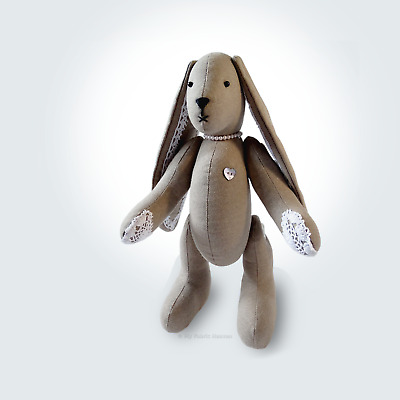 """Sewing PATTERN Lacy Bunny Floppy Eared Bunny Rabbit 11"""" Soft Toy & Instructions"""