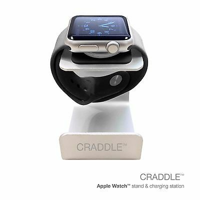 CRADDLE® Apple Watch Stand And Charging Station For All Apple Watch Models.