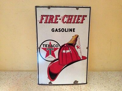 1941 Texaco Porcelain Fire-Chief Gasoline Sign