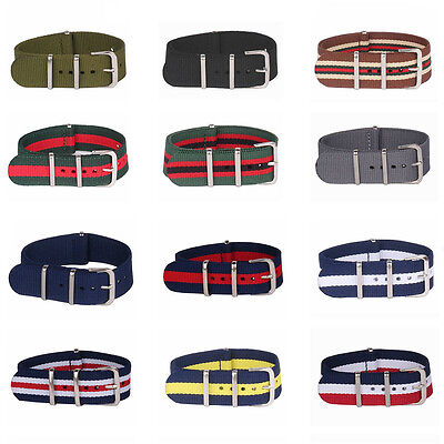 16mm Nylon Stripes Cambo Watch Strap Wristwatch Bands Buckle Watchband Female