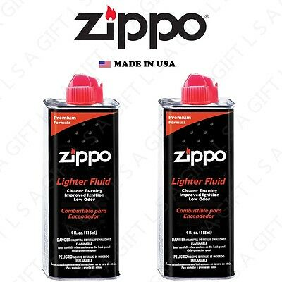 Zippo 4 fl oz (118ml) Premium Fuel Fluid For Zippo Lighters 2X Can Combo Set