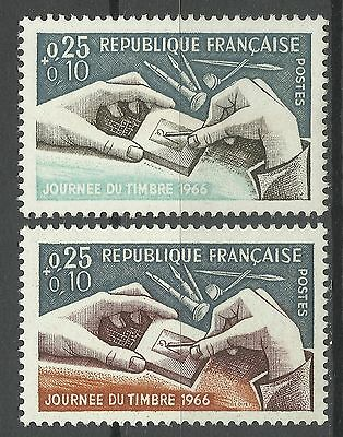 France Stamp Day Philately Punchcutting ** 1966 Rare Dramatic Color Error 300 £