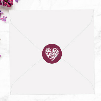 Butterfly Heart - Wedding Envelope Seals - Pack of 70