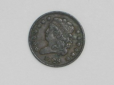 Classic Head Half Cent 13 Stars 1828 Extremely Fine Condition [L-143]