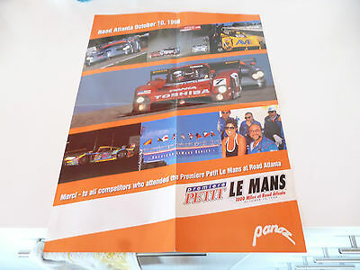 Petit Le Mans 1000 Miles At Road Atlanta October 10, 1998 Poster