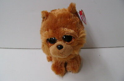 """TY NEW Beanie Boo 6"""" Chow Chow Dog BARLEY(36195) With Fluffy Face"""