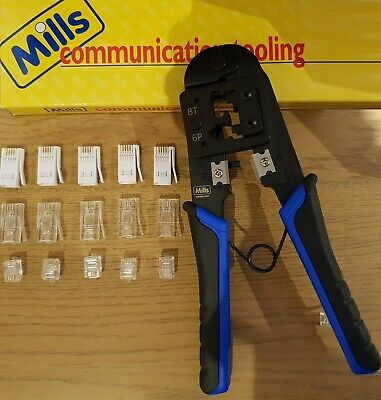 BT431a 631A Crimping Crimper Tool Telephone Plugs + 10 BT Replacement Connectors