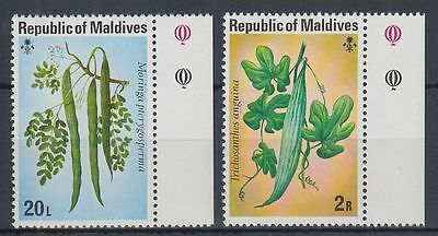 Malediven Maldives 1977 ** Mi.687/88 Gemüse Vegetables Flora [sq5279]