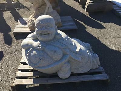 Beautiful Granite Large Laying Carved Garden Buddha  - Jd66