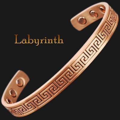 Mens Womens Solid Copper Magnetic Therapy Bracelets for Arthritis Pain Relief-lb
