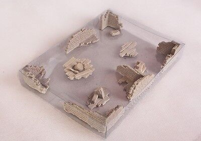 RUINS Set -  11 pieces - wargame scenery Warhammer 28mm Resin Unpainted