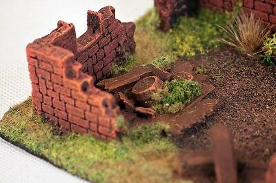 Wargame scenery -  RUINED BUILDING  Warhammer Bolt Action - 28 mm painted