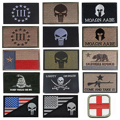 Lots Of USA AMERICAN TACTICAL PATCH US ARMY MORALE MILITARY BADGE PATCHES