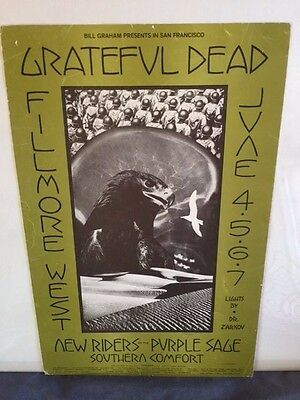 Grateful Dead At The Fillmore West: Promotional Poster