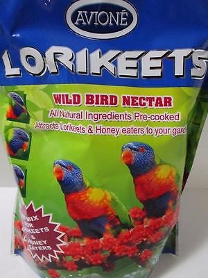 AVIONE Lorikeet wild bird nectar wet food 2kg ALL NATURAL AUSTRALIAN MADE
