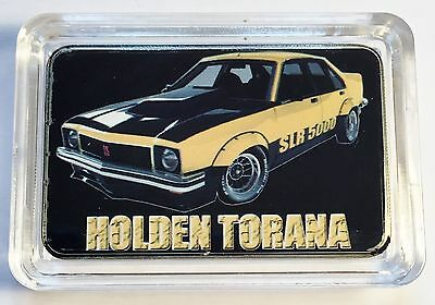 """HOLDEN TORANA SLR 5000"" Colour Printed HGE 999 24k Gold Ingot/token"