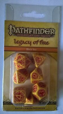 Gioco Ruolo GDR Pathfinder Set Dadi Legacy of Fire
