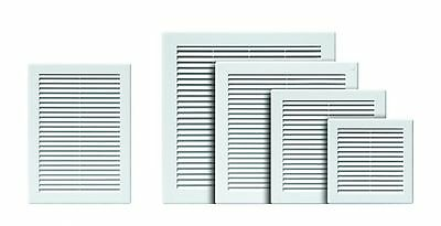 White Air Vent Grille Ducting Ventilation Cover High Quality Wall Louvre Grid TR