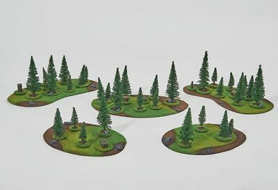 Wargame scenery FOREST SET 32 trees 10 objectives Warhammer Bolt Action 28mm